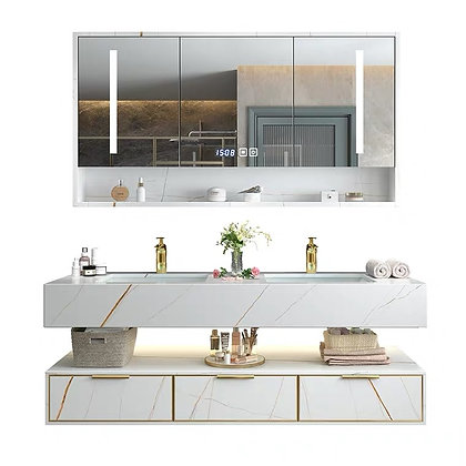 Light Luxury Marble Mable Wash Basin Cabinet