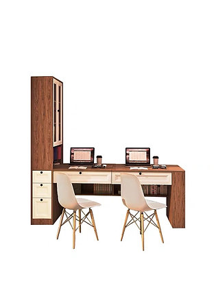 Couple Modern Computer Desk with Drawer