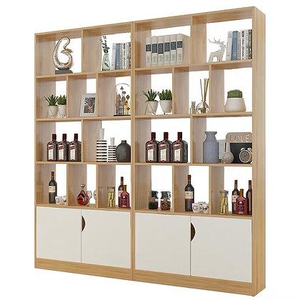 Scandinavian Wine Display Cabinet Partition