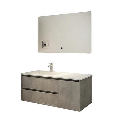 Simple Modern Oak Small Bathroom Cabinet