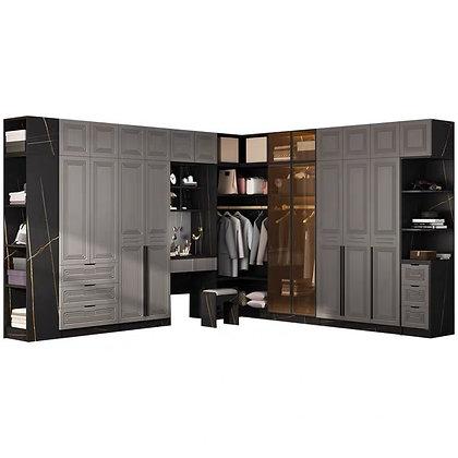 Grey Ash Corner Wardrobe with Dressing Table