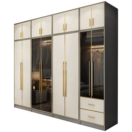 Nordic Glass Door Wardrobe