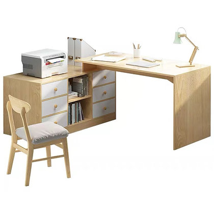 Wood Work Desk With Drawer