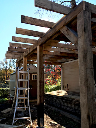 Porch woodworking project