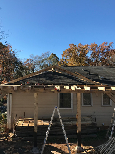 Porch addition woodworking project