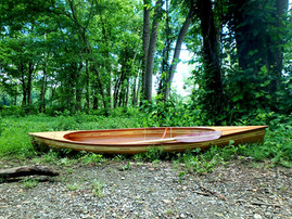 Cedar strip canoe woodworking project