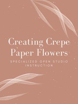 Creating  Crepe Paper Flowers