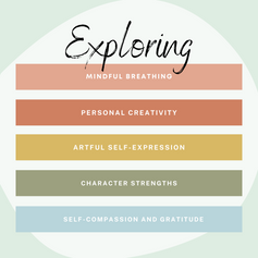 In this five week art therapy group, we will be exploring mindful breathing, personal creativity, artful self-expression, character strengths and self-compassion and gratitude through guided art meditations, journalling and group discussion. All from the comfort of your own home via Zoom!