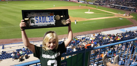 Reagan Showing off our Sadler Plate