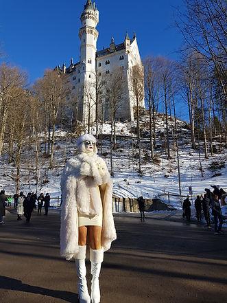 Ice-Princess at castle Neuschwanstein