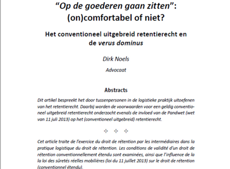 The lecture of Dirk Noels on the 5th Belgian Dutch Colloquium is published as article in IHT