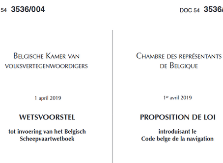 New Belgian Maritime Code approved by Belgian Chamber