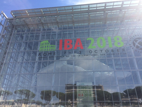 Kegels & Co attends 2018 Annual IBA Conference in Rome