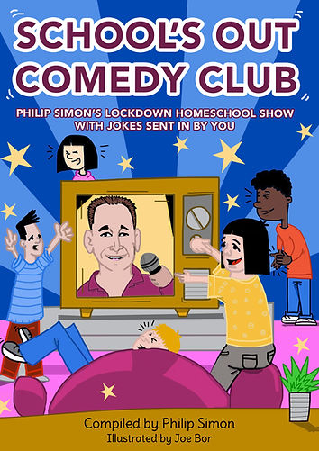 School's Out Comedy Club Joke Book Front Cover Artwork