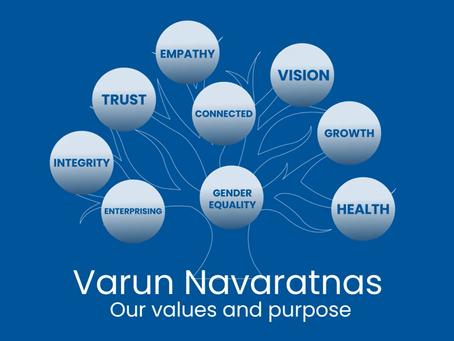 Varun Navaratnas: Our Values and Purpose