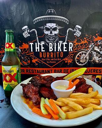 BikerBurritoChickenWingsFriesMexicoIslaM
