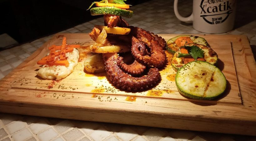 XcatikIslaMujeresRestaurantFoodDinnerMexicanFoodSeafoodOctopus.VNFB.jpg
