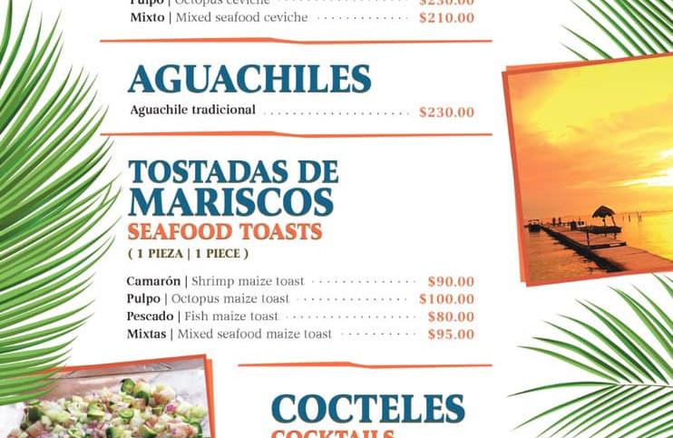 Menurestaurantfoodfishseafoodbeachclubce