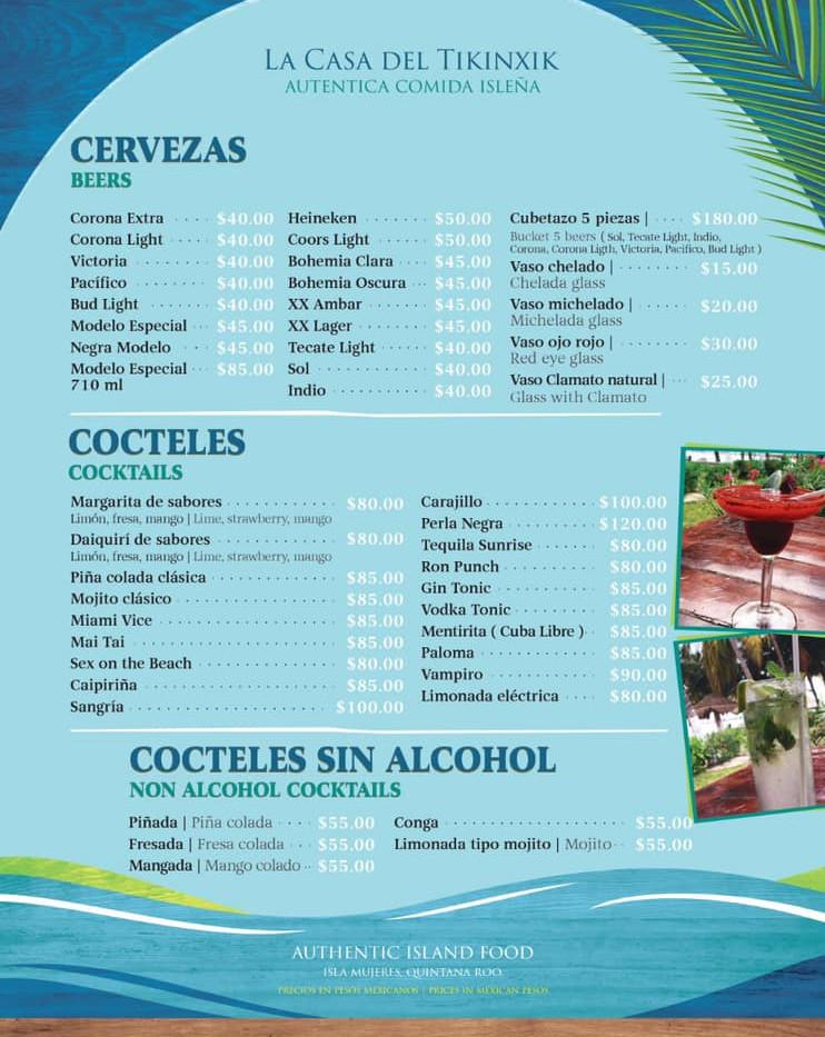 cocktailsmenufreshfishrestaurantfoodisla