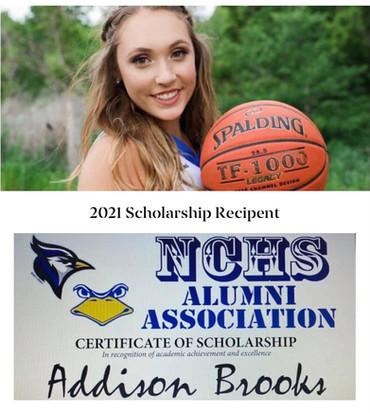2021 Scholarship Recipient