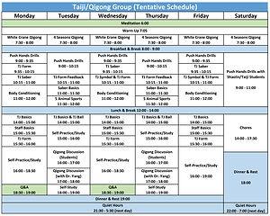 Taiji/Qiong Schedule