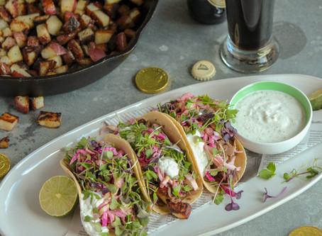 Corned Beef Tacos with Horseradish Cream Sauce