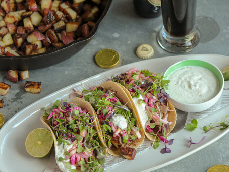 Corned Beef Tacos with Horseradish Cream Sauce
