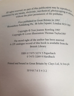 Copyright Page Issue Points
