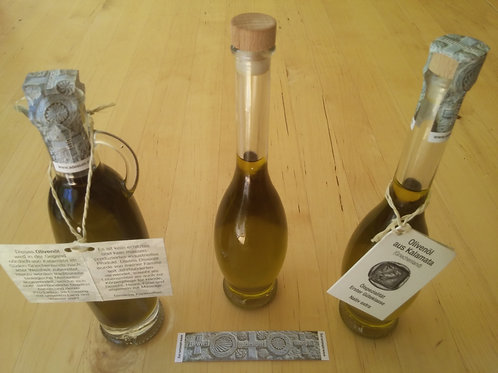 100 mL gift bottle of 100% Kalamata olive oil