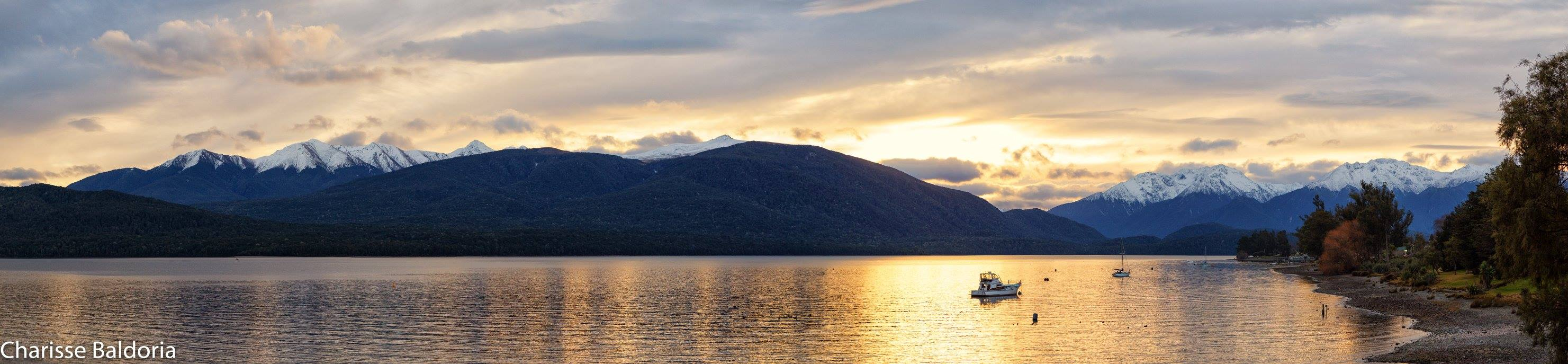 Lake Te Anau in the Sunset