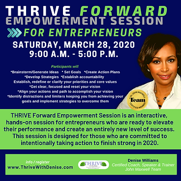 Thrive Forward Empowerment Session March