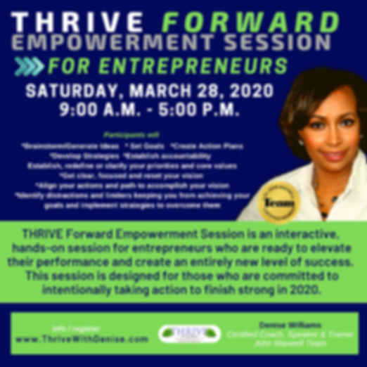 Thrive Forward Empowerment Session