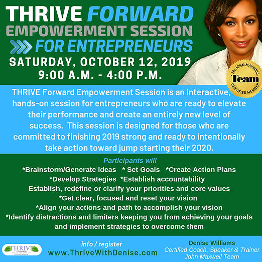 Thrive Forward Empowerment Session for E