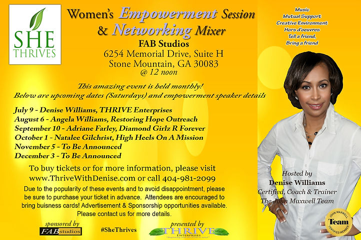 She THRIVES Empowerment Session & Networking Mixer