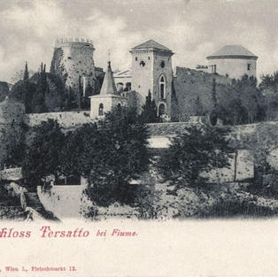 Dvorac Trsat kraj Rijeke / Schloss Tersatto bei Fiume