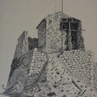 Il castello durante la demolazione
