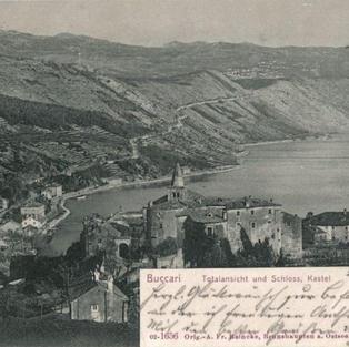 Buccari. Totalansicht und Schloss, Kastel