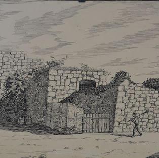 La mura sul Barbacane / Zidine starog riječkog Kaštela