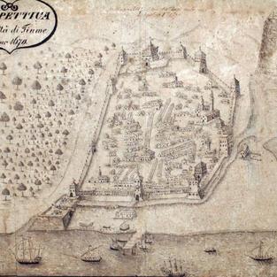 Prospettiva della Città di Fiume l'anno 1670.