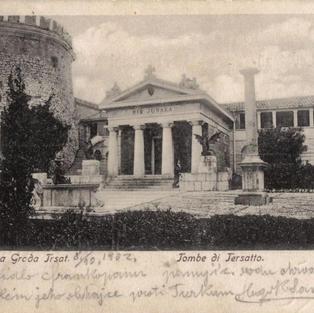 Pozdrav iz Trsat. Grobnica Grada Trsat / Tombe di Tersatto.