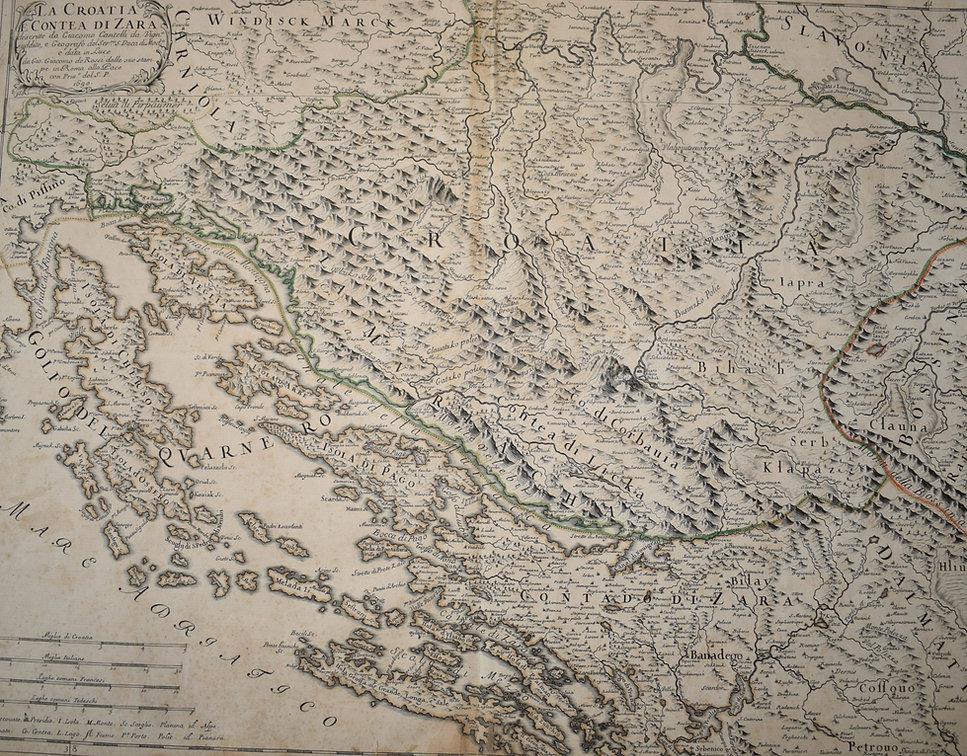 Geografska karta sjevernog Jadrana iz sredine 17. stoljeća