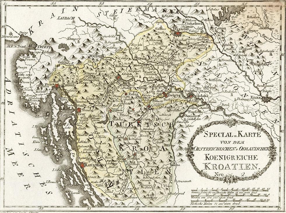 Specijalna karta Austrijskog i Osmanskog Carstva iz 1791.