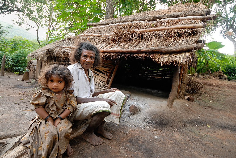 Soliga Tribe and Traditional Hut