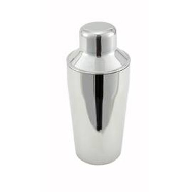 Winco BS-310 3-Piece Stainless Steel 10 oz. Bar Shaker Set