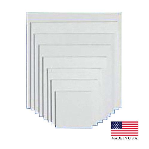 Die Cut  White 1/2 Sheet White Pad