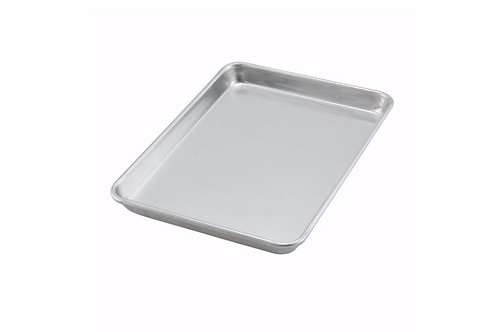 1/4 Size Heavy-Duty Open Bead Aluminum Sheet Pan