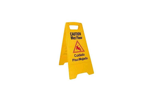 "Caution Wet Floor Sign 25"" x 12"""