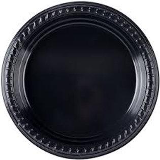 """7"""" Black Plastic Plate"""