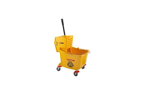 36 qt. Plastic Yellow Mop Bucket with Wringer