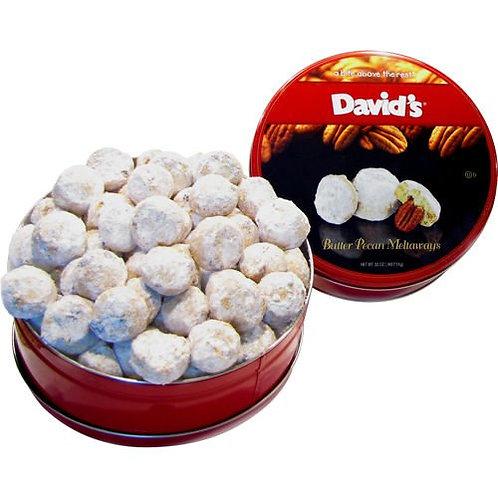 David's Butter Pecan Meltaway Cookies